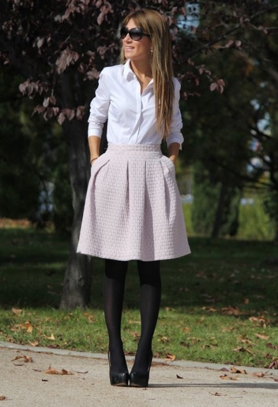 skirts-for-work-22-1 87+ Spring and Summer Office Outfit Ideas for Business Ladies 2019