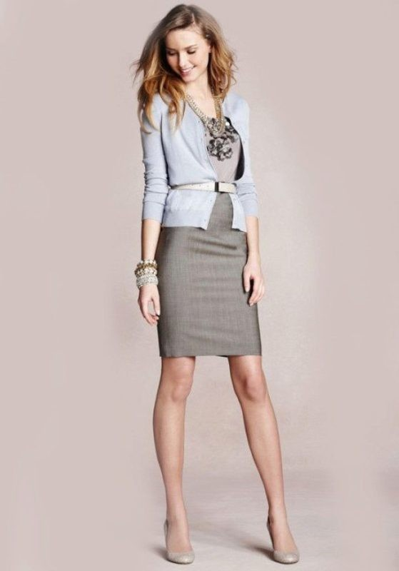 skirts-for-work-23-1 87+ Elegant Office Outfit Ideas for Business Ladies in 2021