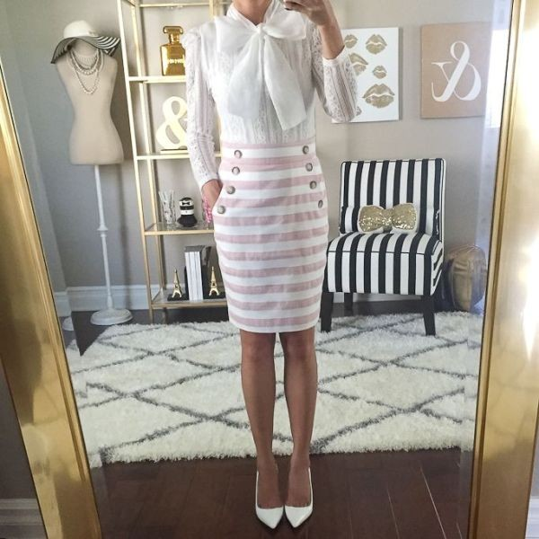 skirts-for-work-27-1 87+ Elegant Office Outfit Ideas for Business Ladies in 2021