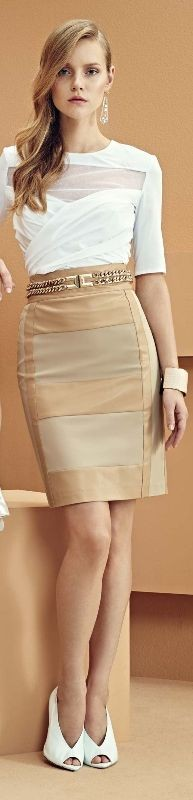 skirts-for-work-30 87+ Elegant Office Outfit Ideas for Business Ladies in 2021