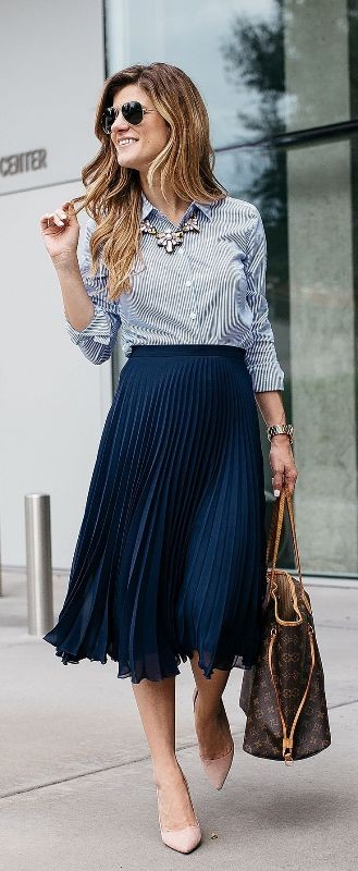 skirts-for-work-4-1 87+ Spring and Summer Office Outfit Ideas for Business Ladies 2019