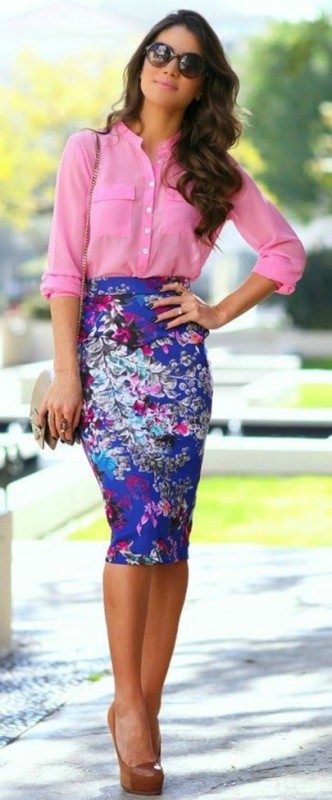 skirts-for-work-5-1 87+ Elegant Office Outfit Ideas for Business Ladies in 2021