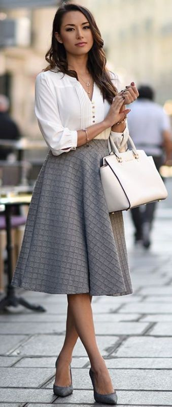 skirts-for-work-6-1 87+ Elegant Office Outfit Ideas for Business Ladies in 2020