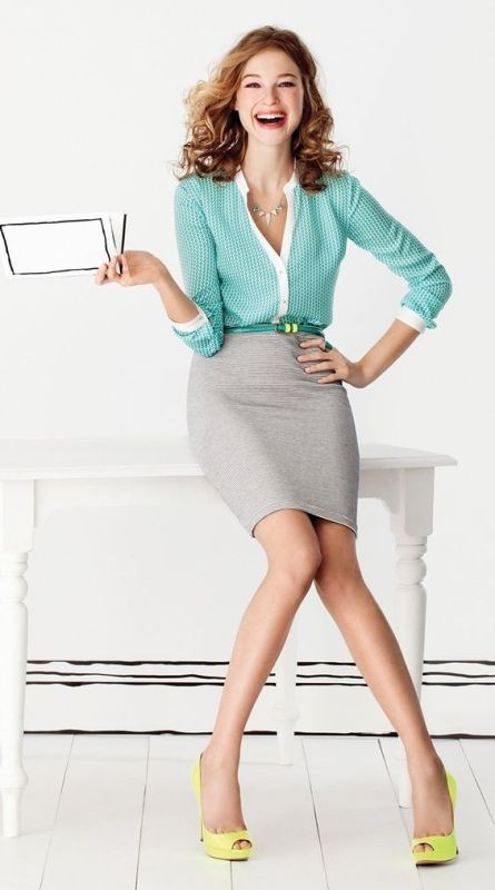 skirts-for-work-8-1 87+ Spring and Summer Office Outfit Ideas for Business Ladies 2019