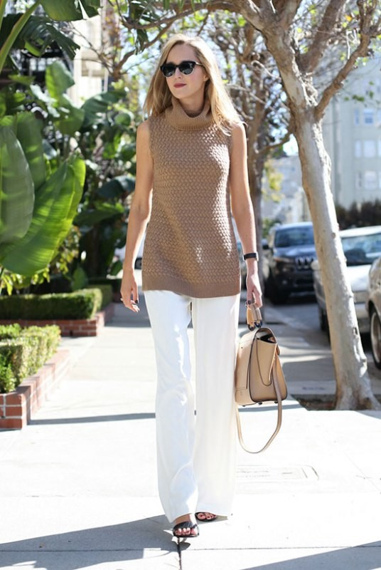 sleeveless-blouses-and-tank-tops-13-1 87+ Spring & Summer Office Outfit Ideas for Business Ladies 2017
