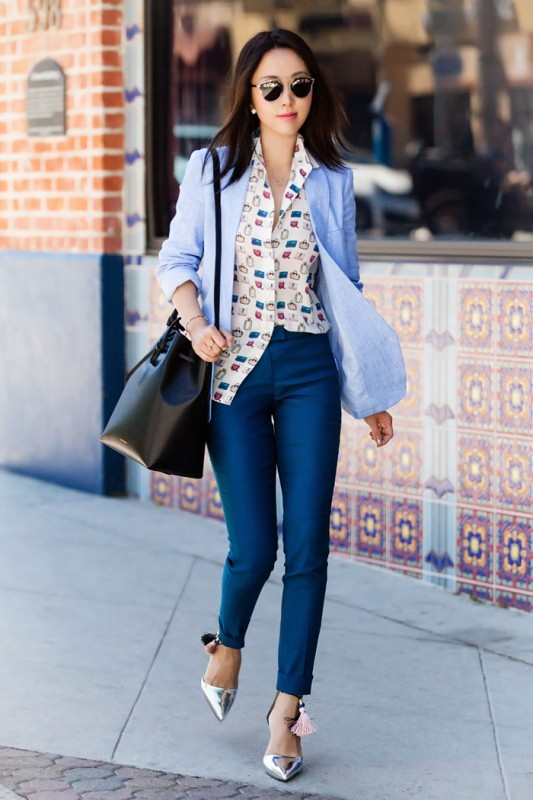 spring-and-summer-office-outfit-ideas-15-1 87+ Spring and Summer Office Outfit Ideas for Business Ladies 2019