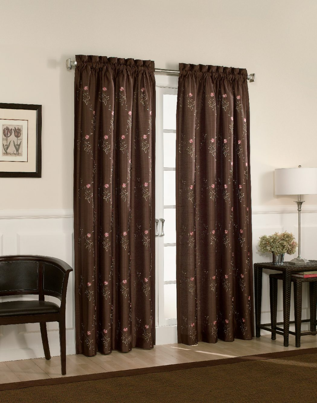 tracy-brown-back-tab-window-curtain-panel-larg 20+ Hottest Curtain Designs for 2018
