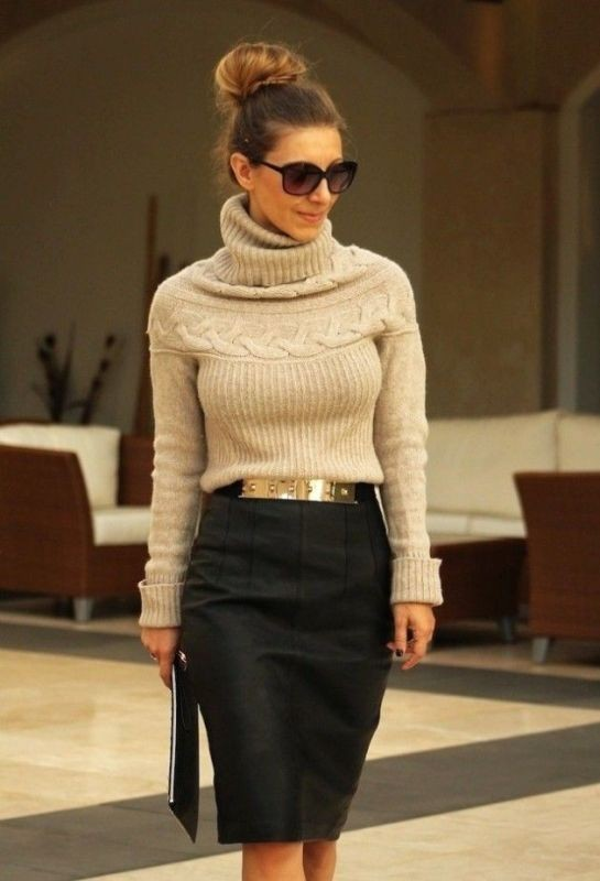 turtlenecks-10-2 83+ Fall & Winter Office Outfit Ideas for Business Ladies 2018