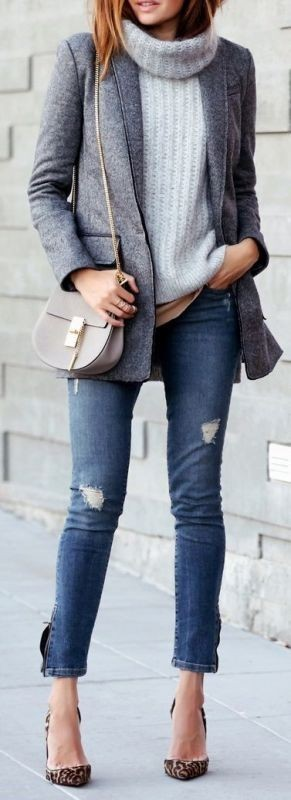 turtlenecks-16 83+ Fall & Winter Office Outfit Ideas for Business Ladies 2020