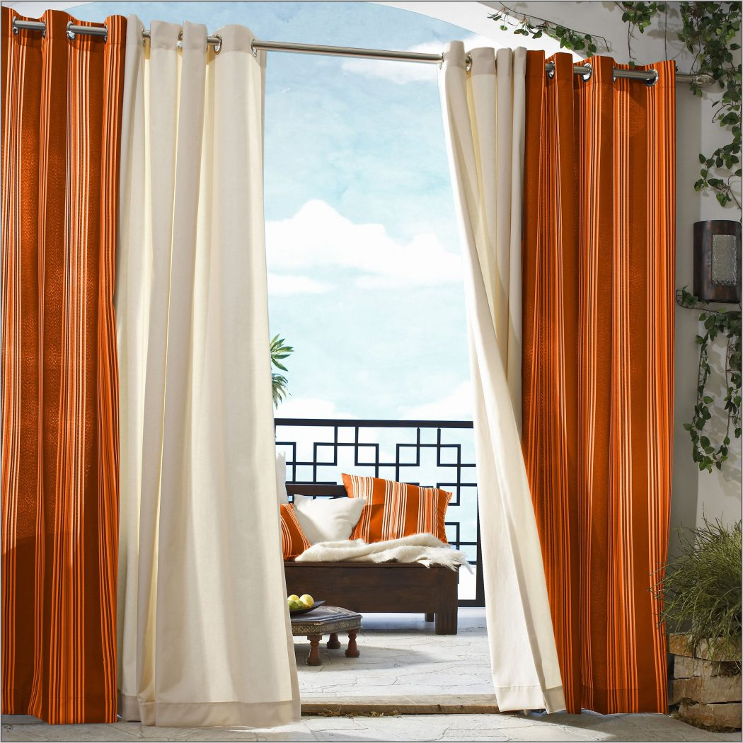 white-and-orange-kitchen-curtains 20+ Hottest Curtain Designs for 2019