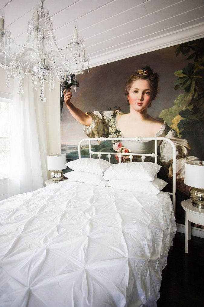 Amazing-hand-painted-oil-on-canvas-art-white-bedroom-675x1013 2018 Trending: 20 Bedroom Designs to Watch for in 2018