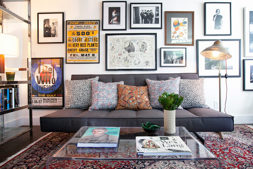 Art-glass-gallery-home-office-contemporary-with-mid-century-modern-couch-gallery-wall-gallery-wall-4 5 Outdated Home Decor Trends That Are Coming Again in 2019