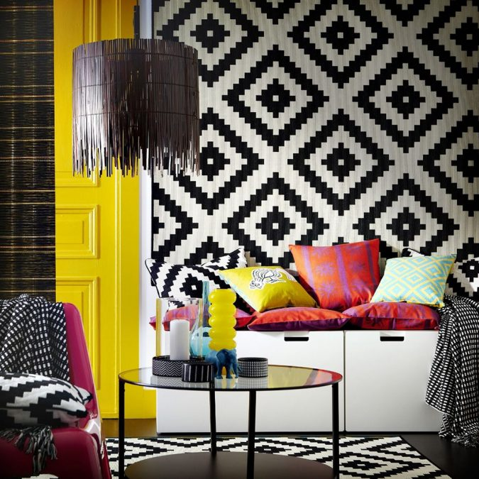 Black-and-White-IKEA-Rug-1-675x675 14 Hottest Interior Designers Trends in 2020