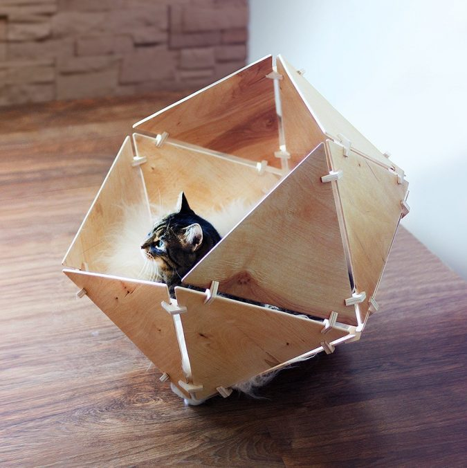 Catissa-Geobed-Cat-Cave-675x676 16 Stylish Cat Furniture Pieces for Cat Lovers