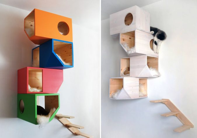 Catissa-geometric-design-for-cats-675x473 16 Stylish Cat Furniture Pieces for Cat Lovers