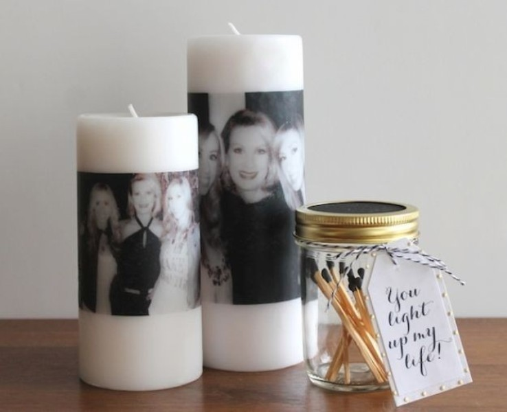 DIY-Mothers-Day-Photo-Candles 35 Unexpected & Creative Handmade Mother's Day Gift Ideas