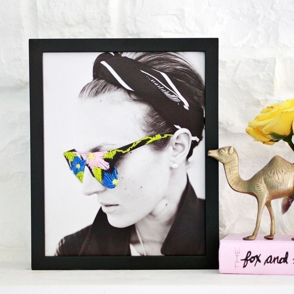 Embroidered-Photo-Art 35 Unexpected & Creative Handmade Mother's Day Gift Ideas