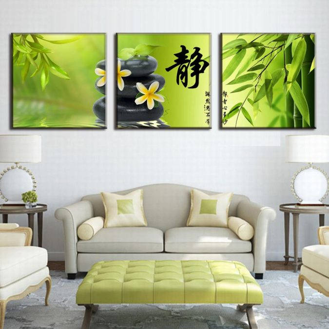 Green-decor-Bamboo-Pebble-Canvas-Picture-Calligraphy-Wall-Pictures-for-Living-675x675 15+ Latest Interior Design Ideas for Your Home in 2020