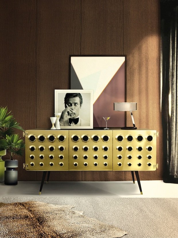 Living-Room-2017-–-The-Hottest-Home-Decor-Trends-delightfull_monocles-vintage-retro-urban-wood-brass-sideboard-01 5 Outdated Home Decor Trends That Are Coming Again in 2020