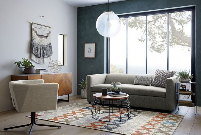 Modern-room-featuring-a-Boho-wall-hanging-675x454 15+ Interior Design Tips from Experts in 2020