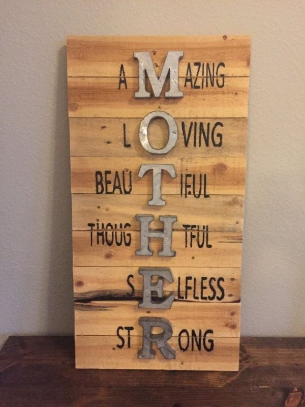 Mothers-Day-wall-sign 35 Unexpected & Creative Handmade Mother's Day Gift Ideas