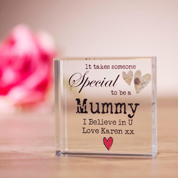 Personalised-Someone-Special-Crystal-Block 28+ Most Fascinating Mother's Day Gift Ideas