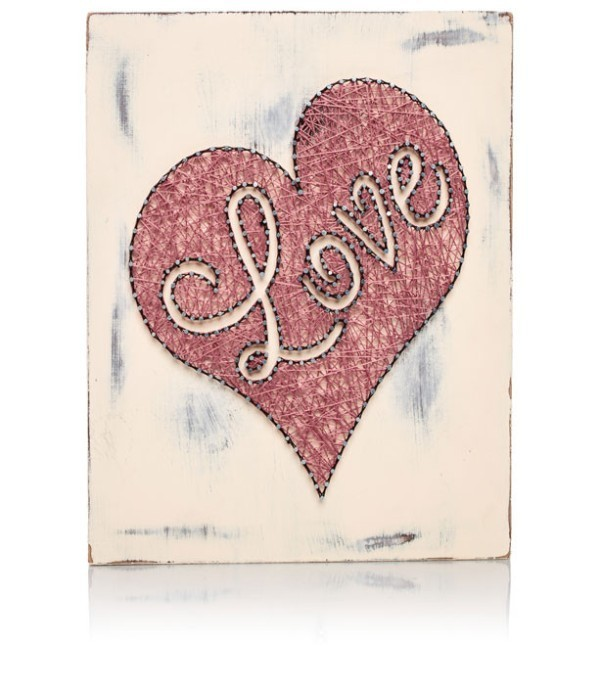 Pink-Heart-string-art 35 Unexpected & Creative Handmade Mother's Day Gift Ideas