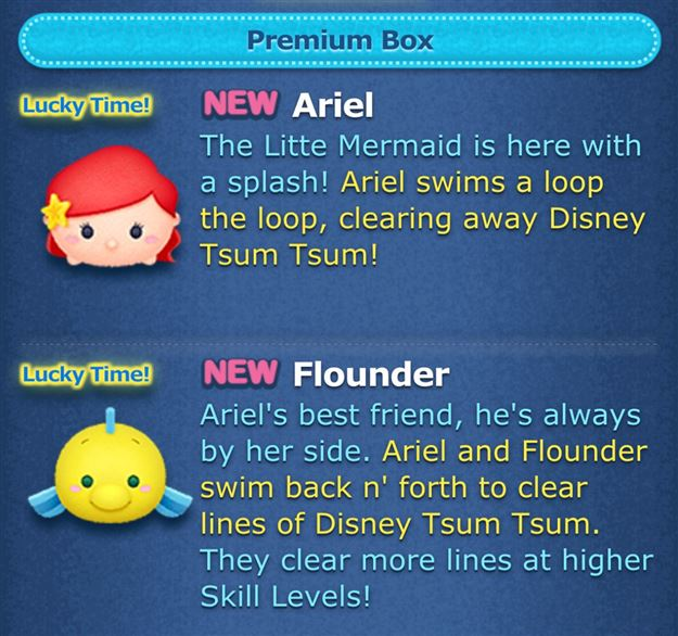 Premium-Tsum-LittleMermaidAddedToGame2 Tips to Earn Tsum Tsum Score Bubbles!