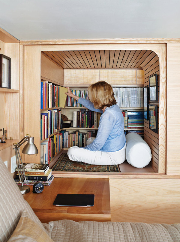 Reading-Nook 15 Interior Design Tips & Ideas for Narrow Small Spaces
