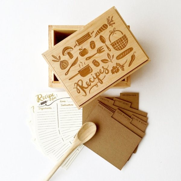 Recipe-Box-2 28+ Most Fascinating Mother's Day Gift Ideas