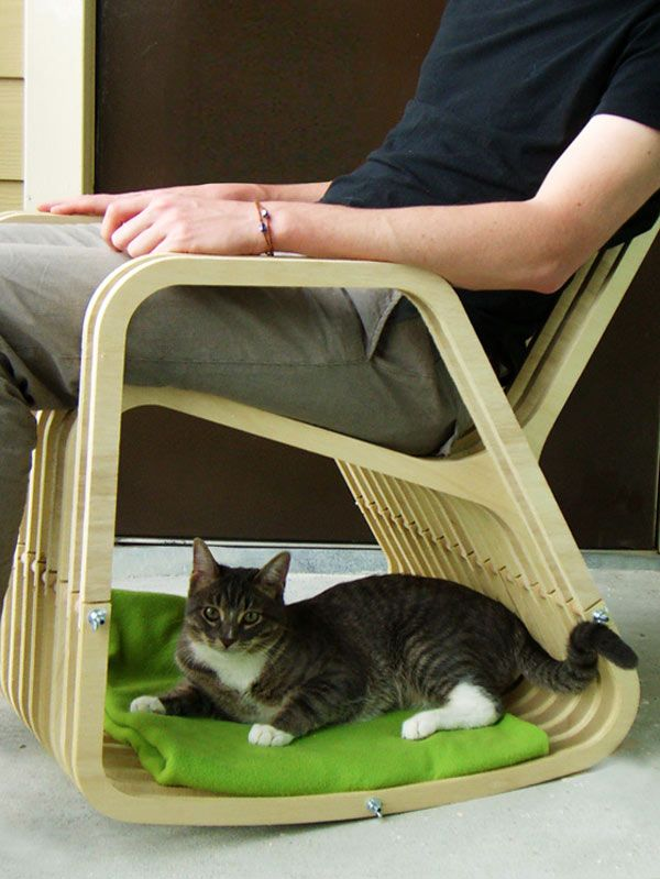 Rocking-Chair-for-cat 16 Stylish Cat Furniture Pieces for Cat Lovers