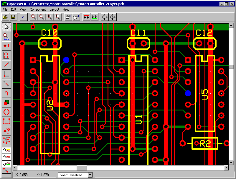 SShotExpressPCB_31 10 Leading Free PCB software for Electronics Designers