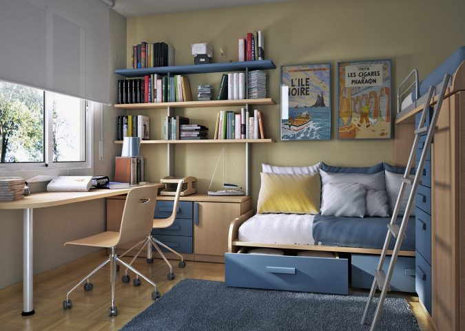 Small-Bedroom-Interior-Design-675x481 15 Interior Design Tips & Ideas for Narrow Small Spaces