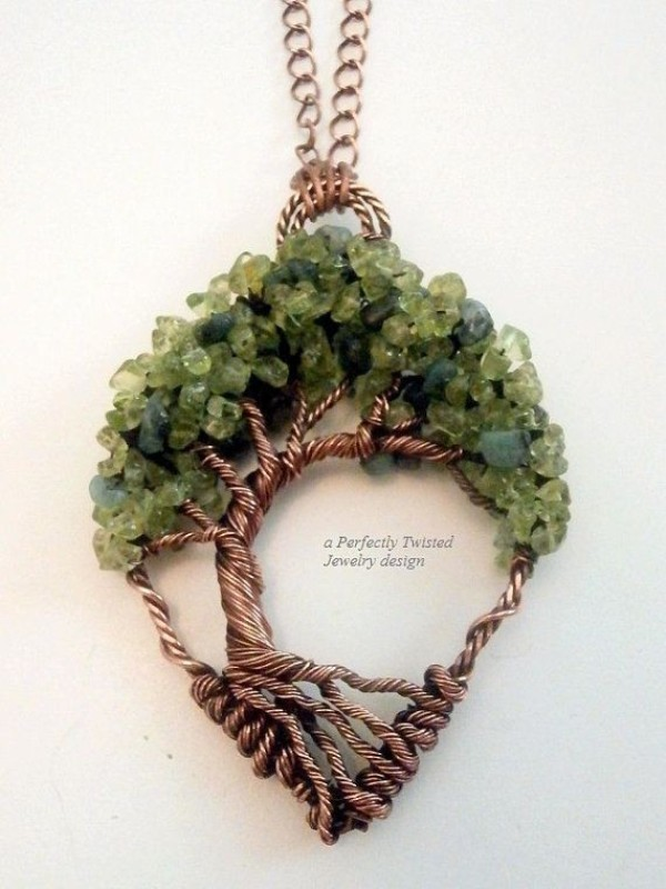 Wire-Wrapped-Tree-of-Life-Pendant 35 Unexpected & Creative Handmade Mother's Day Gift Ideas
