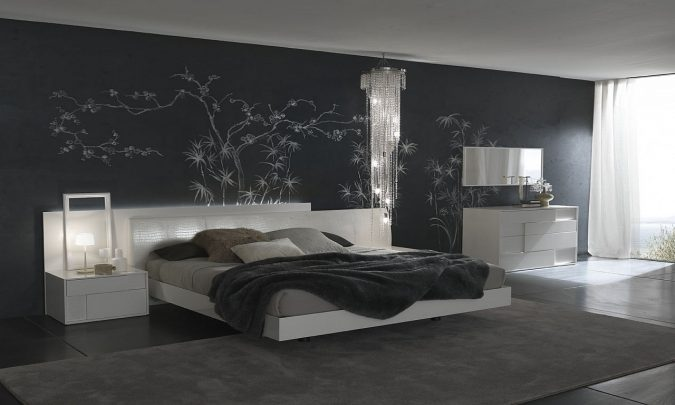 bedroom-interior-design-Shades-of-Gray-and-black-675x405 2018 Trending: 20 Bedroom Designs to Watch for in 2018