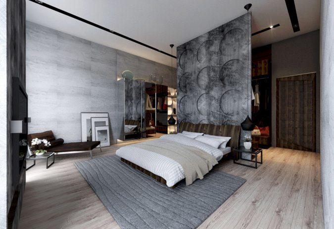 bedroom-interior-design-concrete-wall-designs-675x464 2018 Trending: 20 Bedroom Designs to Watch for in 2018