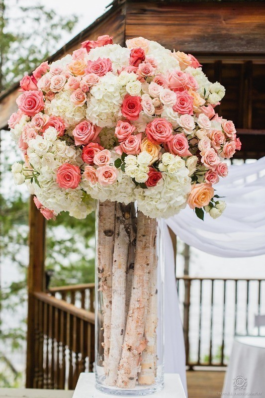 branch-wedding-centerpieces-1 11 Tips on Mixing Antique and Modern Décor Styles