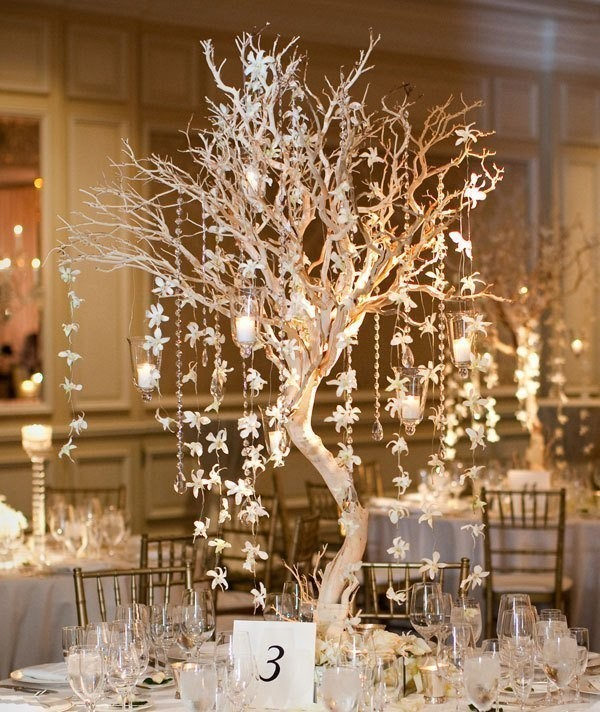 branch-wedding-centerpieces-10 11 Tips on Mixing Antique and Modern Décor Styles
