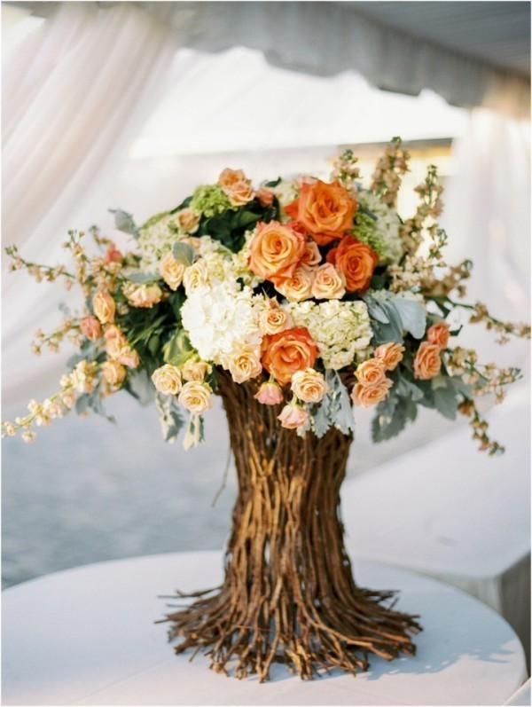 branch-wedding-centerpieces-11 11 Tips on Mixing Antique and Modern Décor Styles