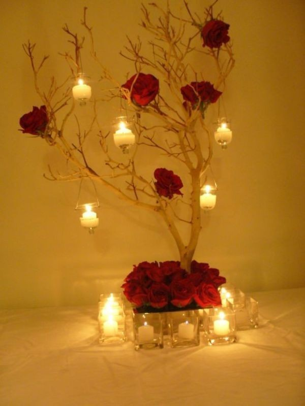 branch-wedding-centerpieces-12 11 Tips on Mixing Antique and Modern Décor Styles