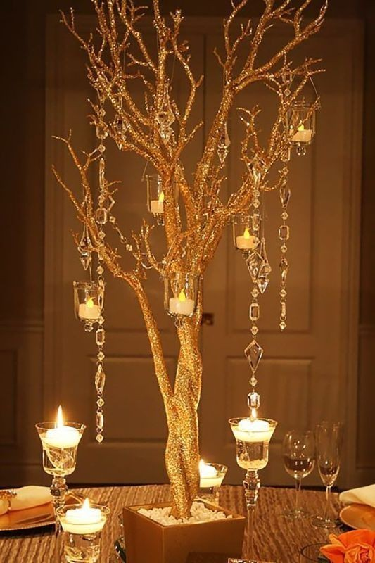 branch-wedding-centerpieces-2 11 Tips on Mixing Antique and Modern Décor Styles