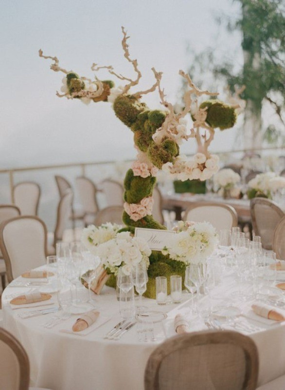 branch-wedding-centerpieces-8 11 Tips on Mixing Antique and Modern Décor Styles