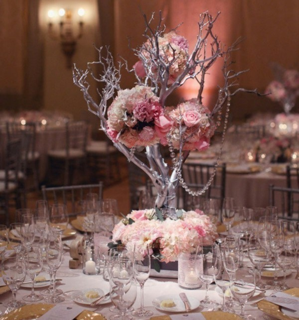 branch-wedding-centerpieces-9 11 Tips on Mixing Antique and Modern Décor Styles