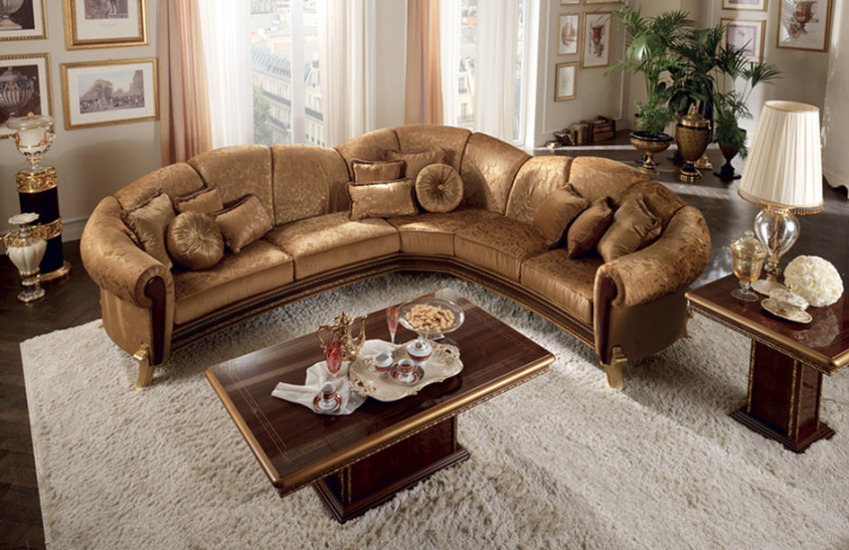 brown-leather-traditional-sectional-sofa-with-cushions-and-rectangle-coffe-table-945x612 5 Outdated Home Decor Trends That Are Coming Again in 2019