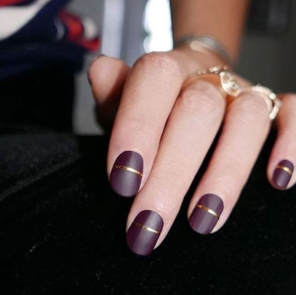 burgundy-nails-1 16+ Lovely Nail Polish Trends for Spring & Summer 2018