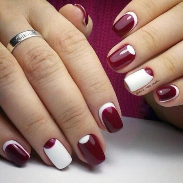 burgundy-nails-2 16+ Lovely Nail Polish Trends for Spring & Summer 2018