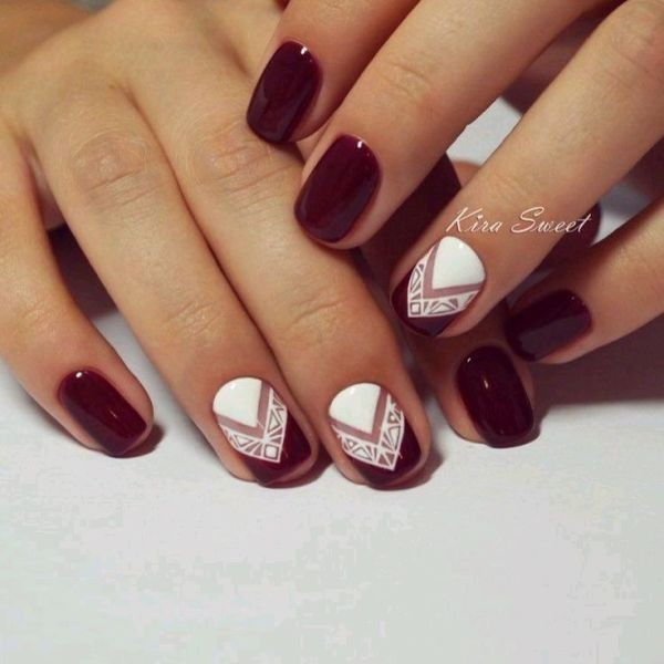 burgundy-nails-3 16+ Lovely Nail Polish Trends for Spring & Summer 2020