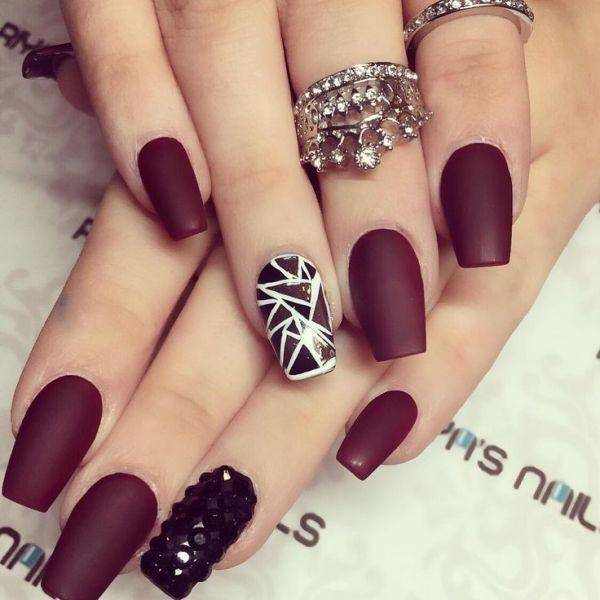 burgundy-nails-4 16+ Lovely Nail Polish Trends for Spring & Summer 2018