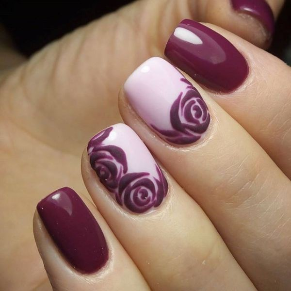 burgundy-nails 16+ Lovely Nail Polish Trends for Spring & Summer 2020