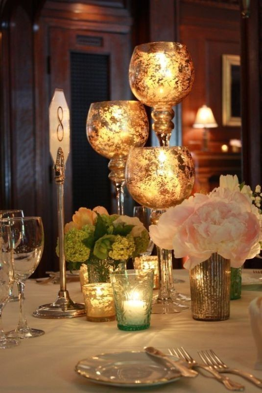 candle-wedding-centerpieces-11 11 Tips on Mixing Antique and Modern Décor Styles